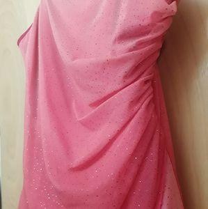 Light Pink Shimmer Strapless Formal Dress NWOT 5/6